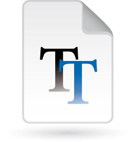 truetype font icon